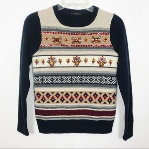 J. Crew | Holiday Sweater | Embellished